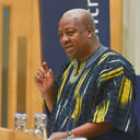 president mahama addressing the audience