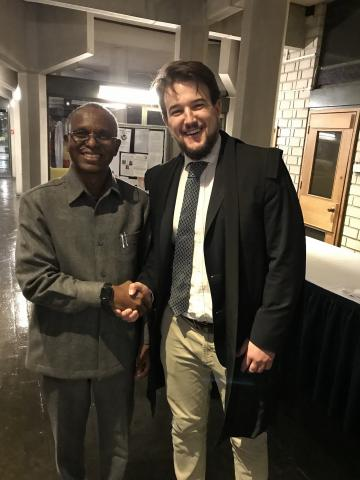 governor el rufai and joshua nott class representative of msc african studies 2017 18 cohort