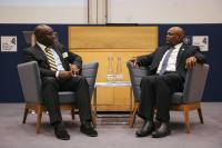wale adebanwi interviewing president masisi